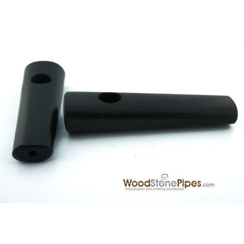 "3.5"" Ebony Wood Simple Mini Tobacco Pipe - WoodStonePipes.com   - 1"