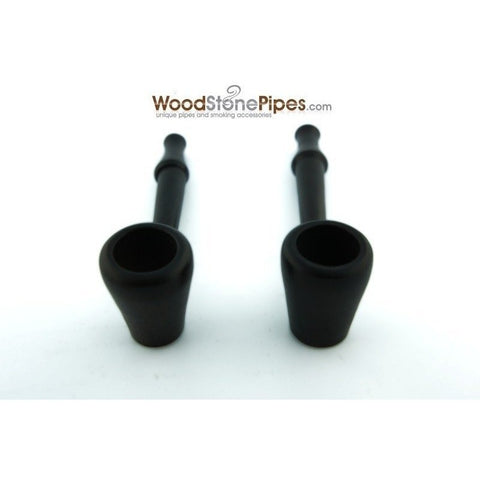 "3.5"" Mini Slim Black Straight Wood Pipe - WoodStonePipes.com   - 3"