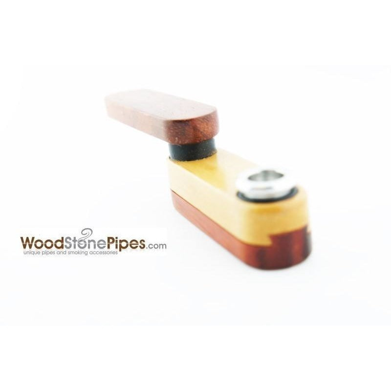 "3.5"" Mini Swivel Top Pocket Wood Tobacco Pipe - WoodStonePipes.com   - 5"