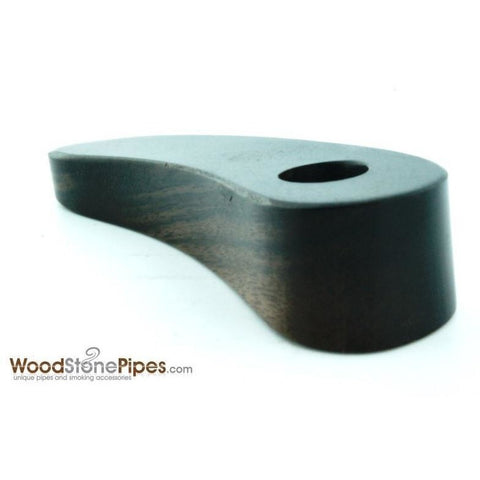 "3.5"" Rosewood Banana - Teardrop Shaped Smoking Tobacco Pipe - WoodStonePipes.com   - 2"