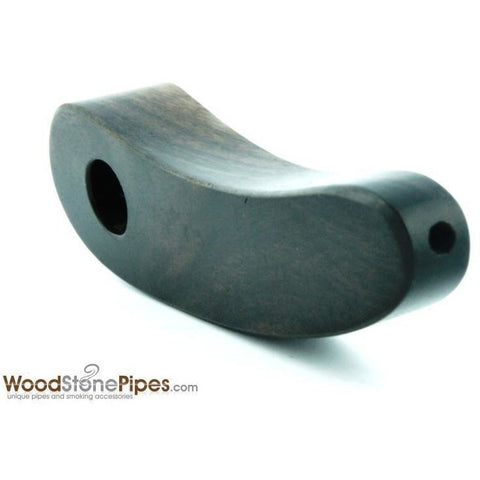 "3.5"" Rosewood Banana - Teardrop Shaped Smoking Tobacco Pipe - WoodStonePipes.com   - 3"