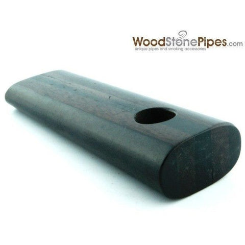 "3.5"" Rosewood / Ebony Dual Wood Mini Smoking Tobacco Pipe - WoodStonePipes.com   - 1"