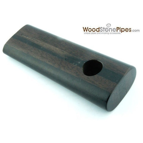 "3.5"" Rosewood / Ebony Dual Wood Mini Smoking Tobacco Pipe - WoodStonePipes.com   - 2"