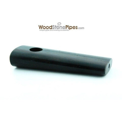 "3.5"" Rosewood / Ebony Dual Wood Mini Smoking Tobacco Pipe - WoodStonePipes.com   - 5"
