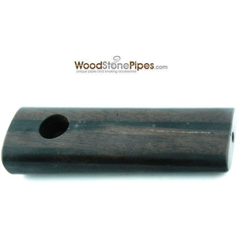"3.5"" Rosewood / Ebony Dual Wood Mini Smoking Tobacco Pipe - WoodStonePipes.com   - 6"