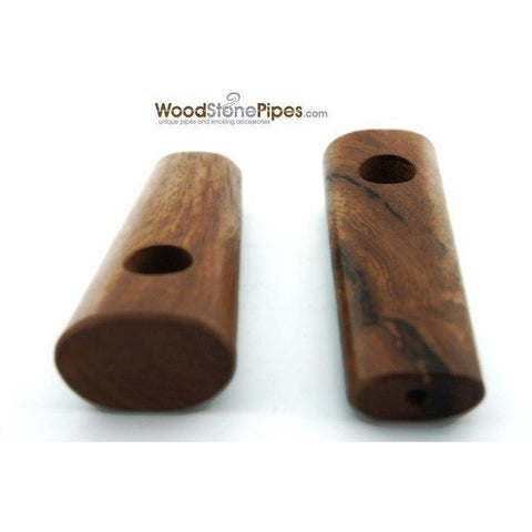 "3.5"" Teak Wood Simple Mini Tobacco Pipe - WoodStonePipes.com   - 2"