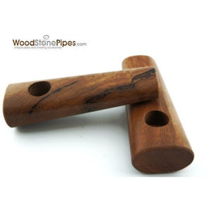 "3.5"" Teak Wood Simple Mini Tobacco Pipe - WoodStonePipes.com   - 3"
