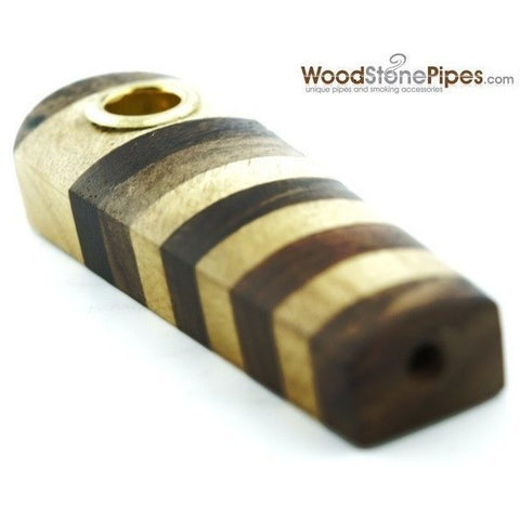 "3"" Mini Cedar Rosewood Tobacco Pipe - WoodStonePipes.com   - 3"