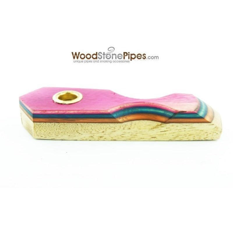 "3"" Mini Cedar & RoseWood Tobacco Pipe with Brass Screen - WoodStonePipes.com   - 1"
