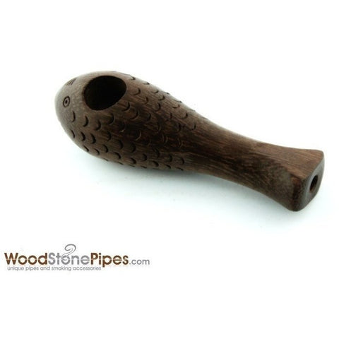 "3"" Mini Rosewood Carved ""Crazy Fish"" Wood Wodden Collectible Smoking Tobacco Pipe - WoodStonePipes.com   - 5"