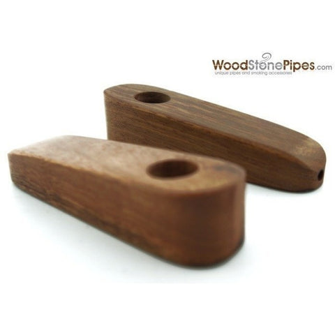 "3"" Mini Teardrop Shape Cedar Wood Tobacco Pipe - WoodStonePipes.com   - 2"