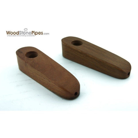 "3"" Mini Teardrop Shape Cedar Wood Tobacco Pipe - WoodStonePipes.com   - 3"