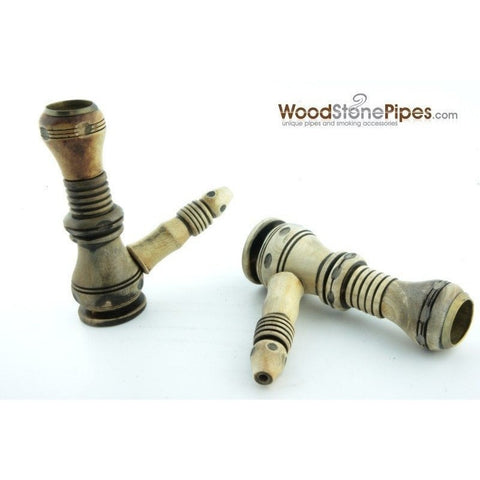 "3"" Wood and Stone Tobacco Hand Pipe - WoodStonePipes.com   - 4"
