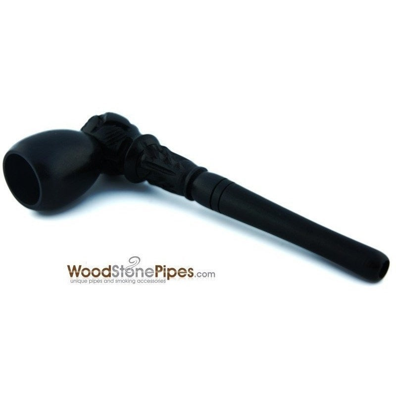 "4"" Carved Wood Tobacco Pipe - WoodStonePipes.com   - 1"