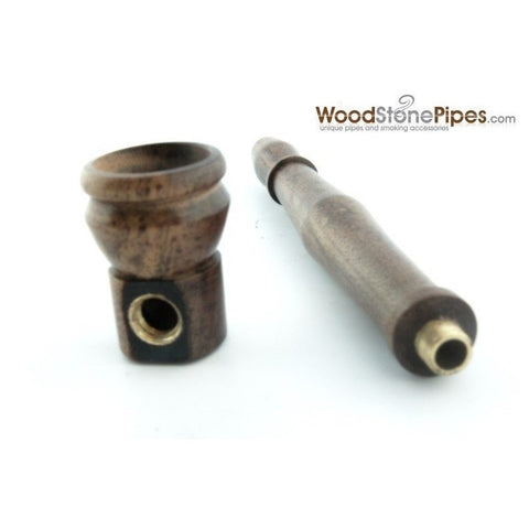 "4"" Mini Tobacco Pipe Collectible Rosewood Wood Smoking Pipe - WoodStonePipes.com   - 6"