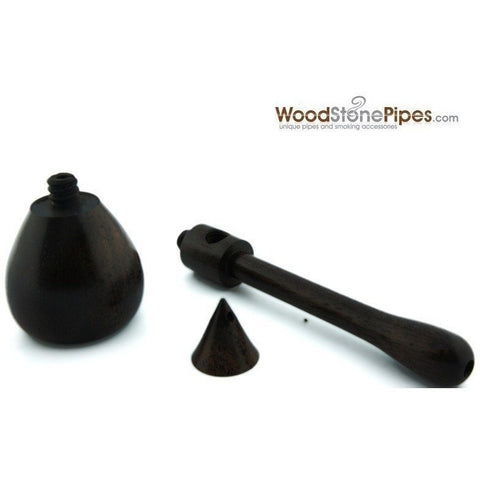 "4"" Rosewood Wood Tobacco Pipe - WoodStonePipes.com   - 4"