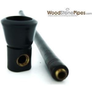 "9"" Long Straight Wood Tobacco Pipe - WoodStonePipes.com   - 3"