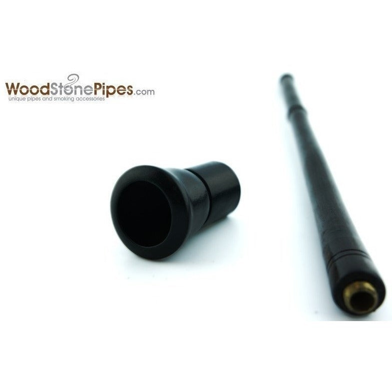 "9"" Long Straight Wood Tobacco Pipe - WoodStonePipes.com   - 4"