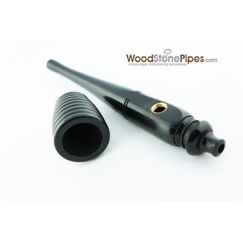 Black Ebony Wood Handmade Carved Collectible Smoking Tobacco Pipe - 6