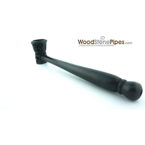 Carved Ebony Wood Handmade Smoking Pipe 5.5