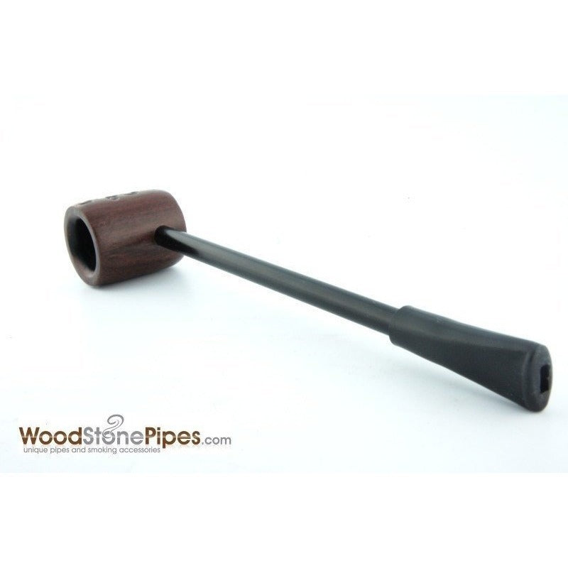 Elegant and Straight with Carved Finish Bowl Smoking Tobacco Pipe - WoodStonePipes.com   - 7