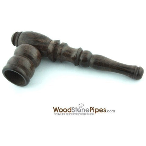 "Handmade Tobacco Smoking Wooden 4"" Pipe - Carved Collectible Rosewood Wood Pipe - WoodStonePipes.com   - 3"