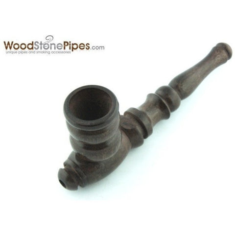 "Handmade Tobacco Smoking Wooden 4"" Pipe - Carved Collectible Rosewood Wood Pipe - WoodStonePipes.com   - 4"