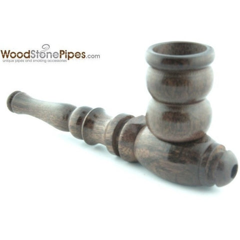 "Handmade Tobacco Smoking Wooden 4"" Pipe - Carved Collectible Rosewood Wood Pipe - WoodStonePipes.com   - 5"