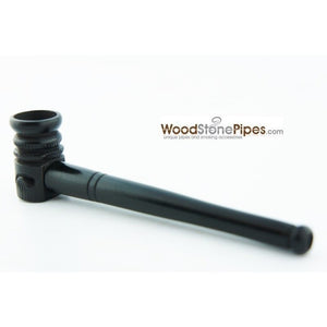 "Mini Pipe Black Ebony Wood Handmade Carved Collectible Smoking Tobacco Pipe - 4"" - WoodStonePipes.com   - 3"
