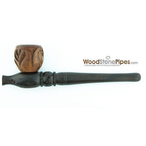"Smoking Pipe Wood Wooden Mini Smoking Tobacco Pipe - 5"" + 5 Pipe Screens - WoodStonePipes.com   - 2"