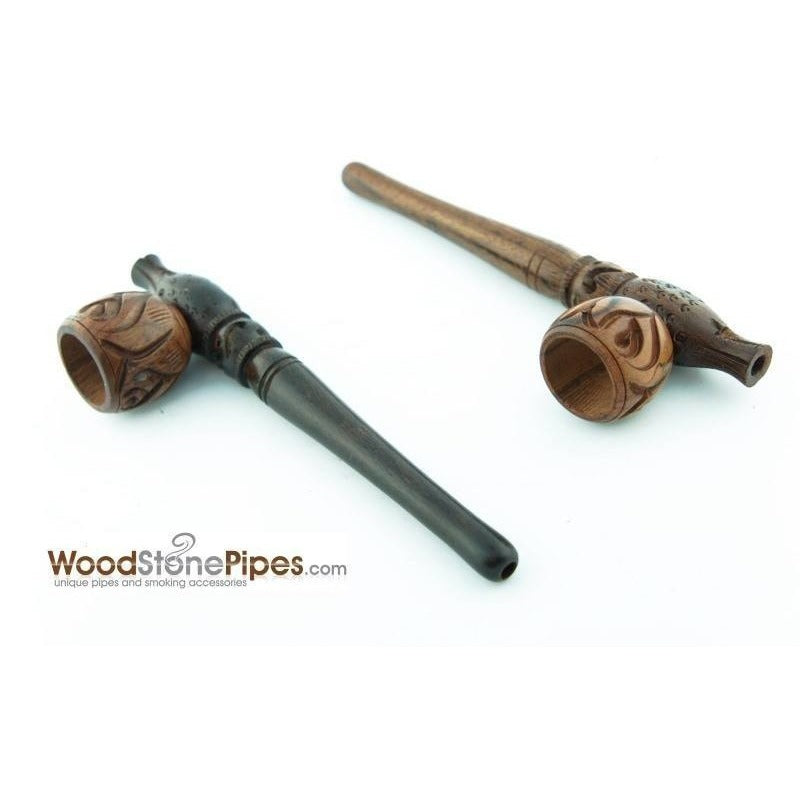 "Smoking Pipe Wood Wooden Mini Smoking Tobacco Pipe - 5"" + 5 Pipe Screens - WoodStonePipes.com   - 5"