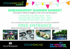 Meet us in London at the Embankment Summer Market !
