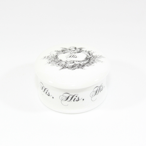 'His' Fine Bone China Trinket Box - The New English