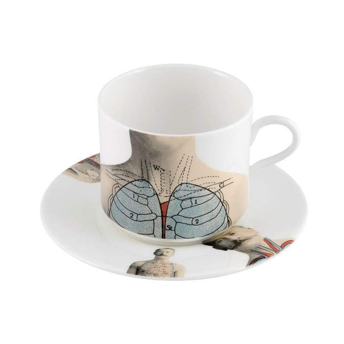 The New English:Anatomica Latte Cup & Saucer