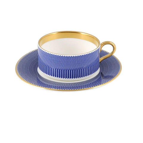 Benday Cobalt Tea Cup & Saucer