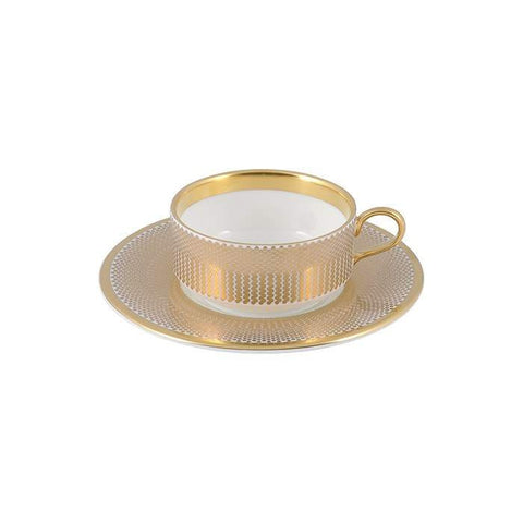 The New English:Benday Gold Mocha Cup & Saucer
