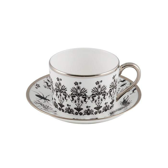 The New English:Entomo Black Coffee Cup & Saucer