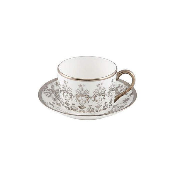 The New English:Entomo Platinum Coffee Cup & Saucer