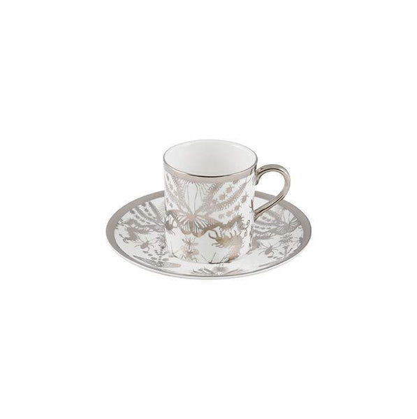 The New English:Entomo Platinum Espresso Cup & Saucer