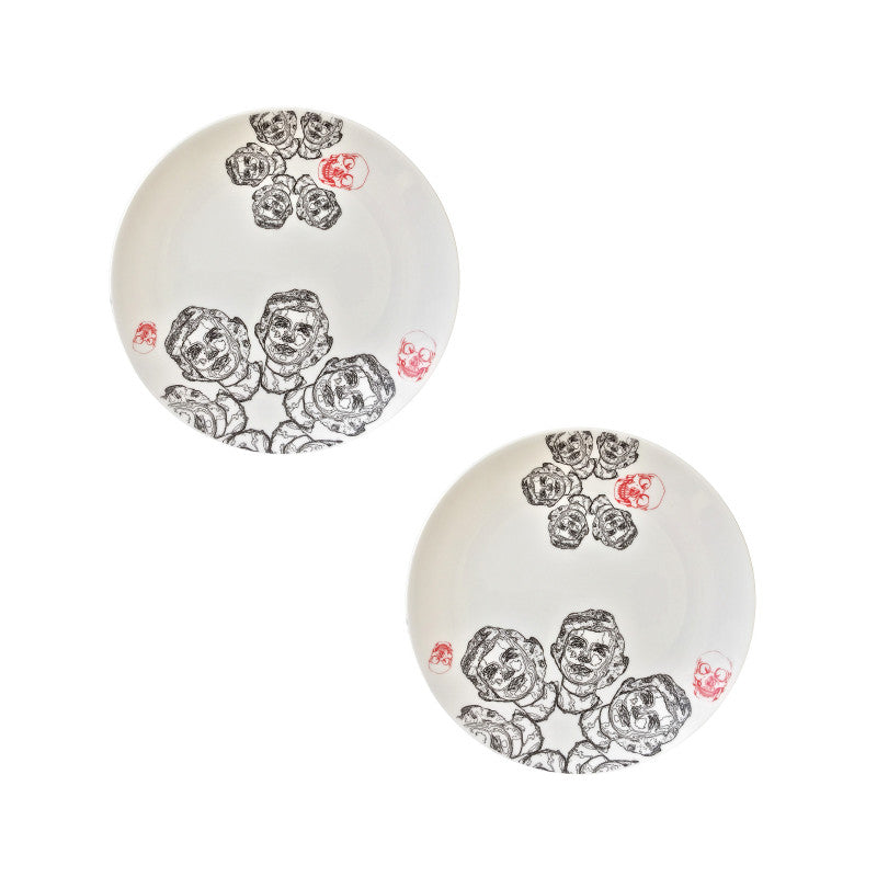 The New English:Discontinued - 'Ador' Cake Plate Set of 2