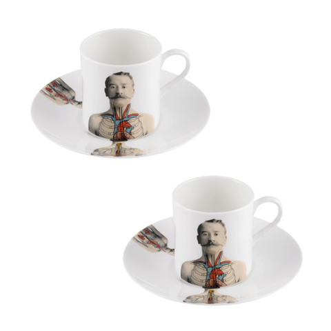 The New English:Anatomica Espresso Cup & Saucer Set x2