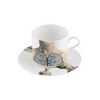 The New English:Anatomica Latte Cup & Saucer Set x2