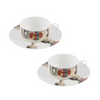 The New English:Anatomica Mocha Cup & Saucer Set x2
