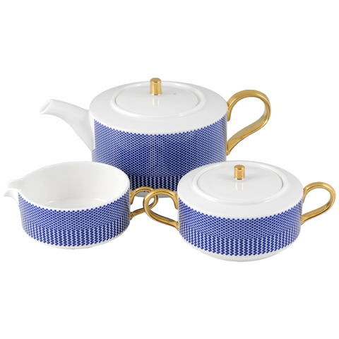 The New English:Benday Cobalt Teaset