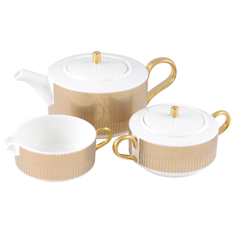The New English:Benday Gold Teaset