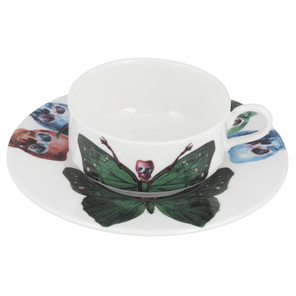 The New English:Lepidoptera Crudus Mocha Cup & Saucer