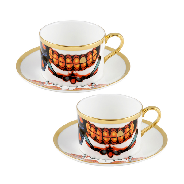 The New English:Inkhead Coffee Cup & Saucer Set x2