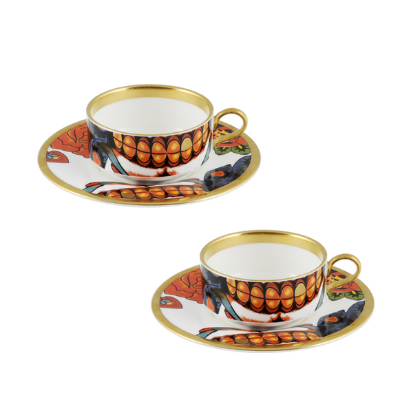 The New English:Inkhead Mocha Cup & Saucer Set x2