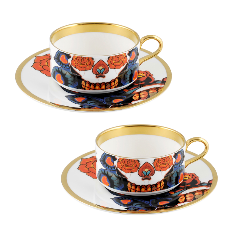 The New English:Inkhead Teacup & Saucer Set x2
