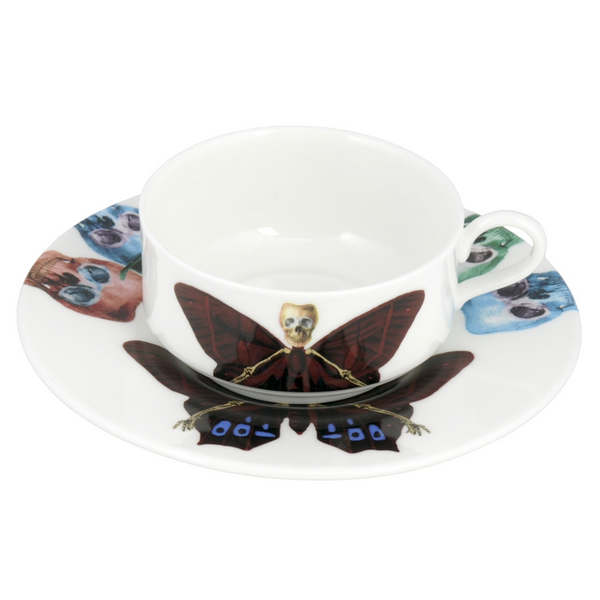 The New English:Lepidoptera Profundus Mocha Cup & Saucer